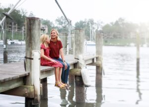 Kristen J with daughter, Double lung transplant recipient