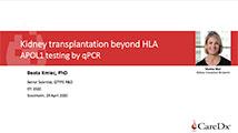 EFI 2020 Kidney transplantation beyond HLA; Apolipoprotein L1 (APOL1) testing by qPCR