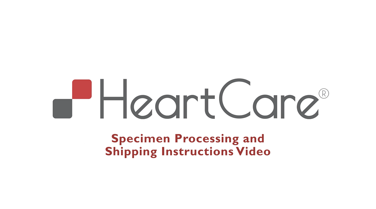 HeartCare Specimen Collection and Shipping Video
