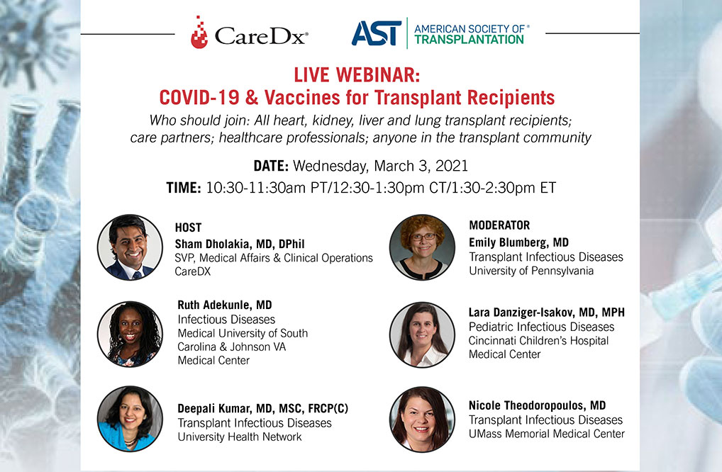 COVID-19 & Vaccines for Transplant Recipients