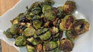 Roasted Balsamic Glazed Brussel Sprouts