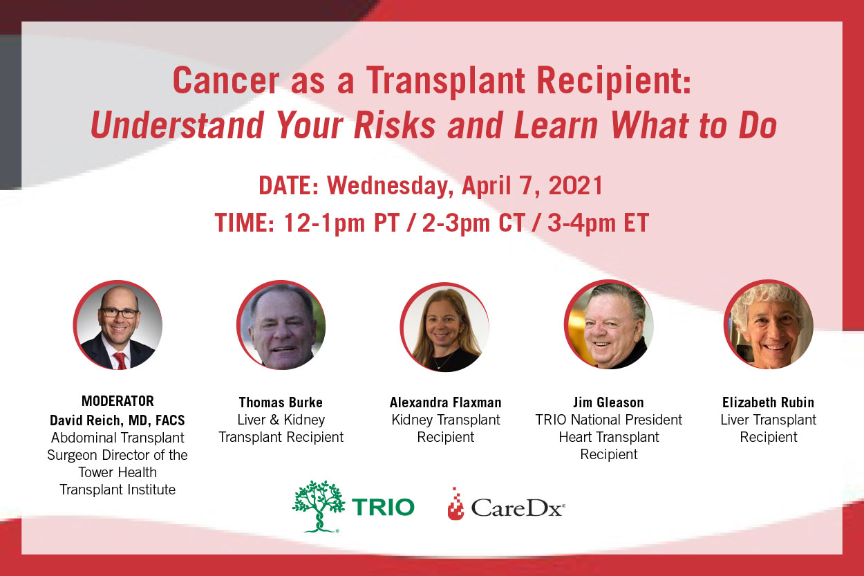 Cancer as a Transplant Recipient Webinar