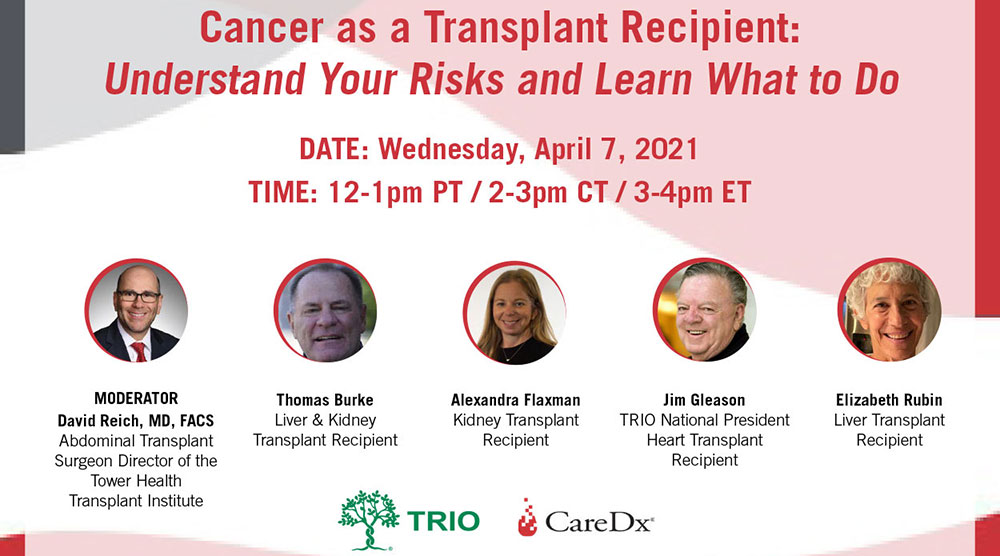 Cancer as a Transplant Recipient: Understand Your Risks and Learn What to Do