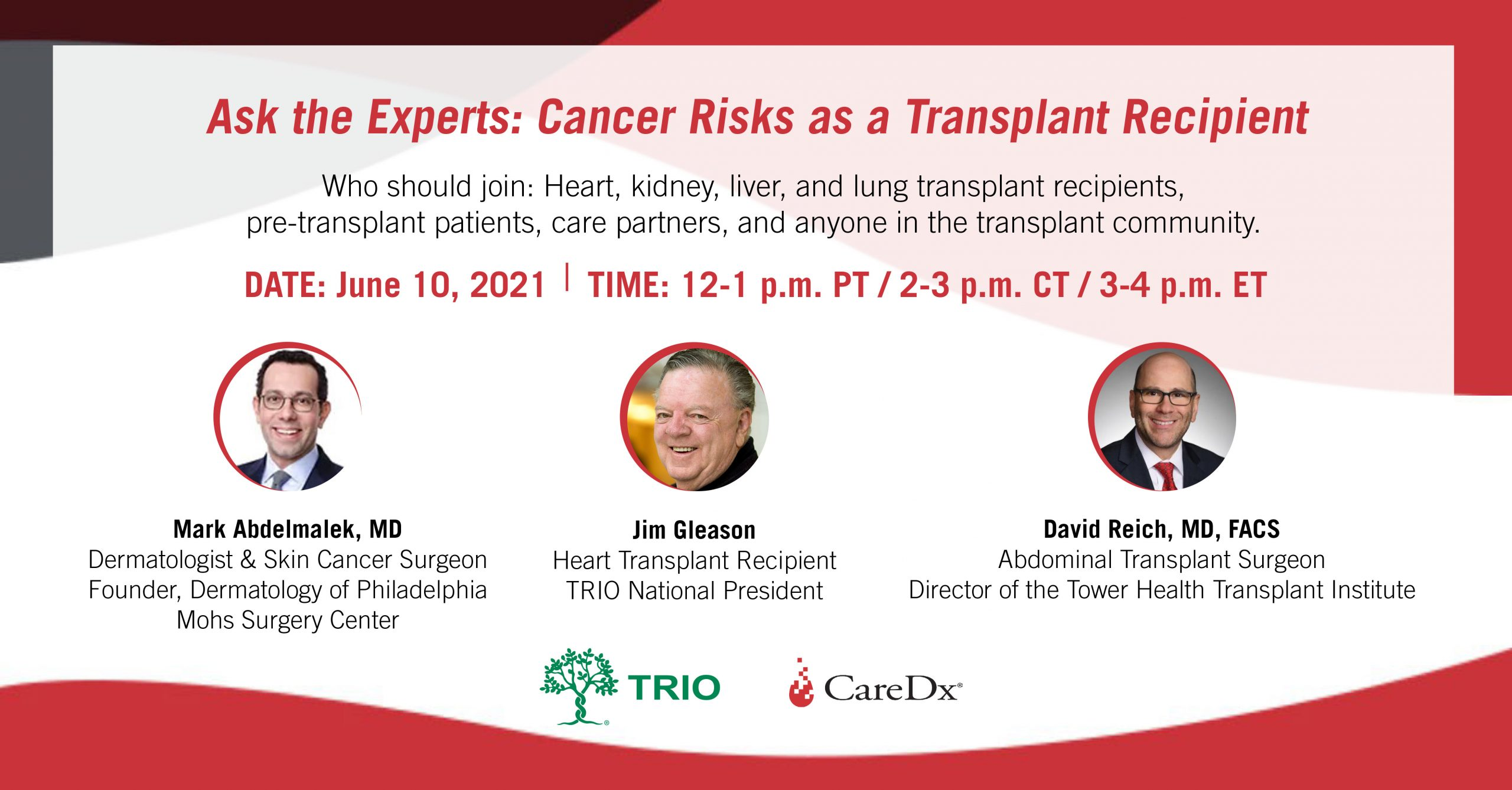 Ask the Experts: Cancer Risks as a Transplant Recipient