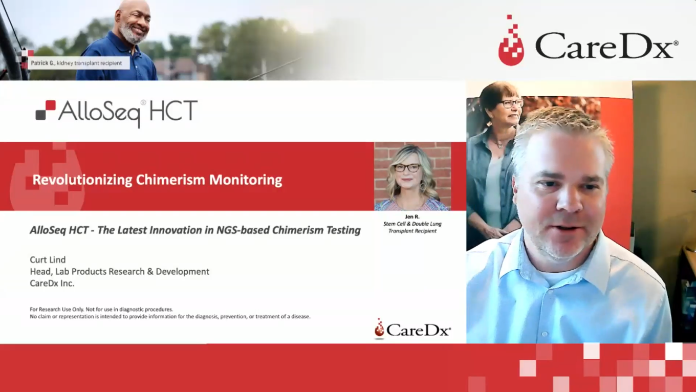 EFI 2021 Virtual Session: AlloSeq HCT – The Latest Innovation in NGS-based Chimerism Testing