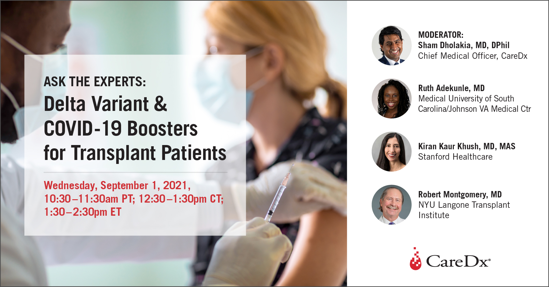 Ask the Experts: Delta Variant & COVID-19 Boosters for Transplant Patients